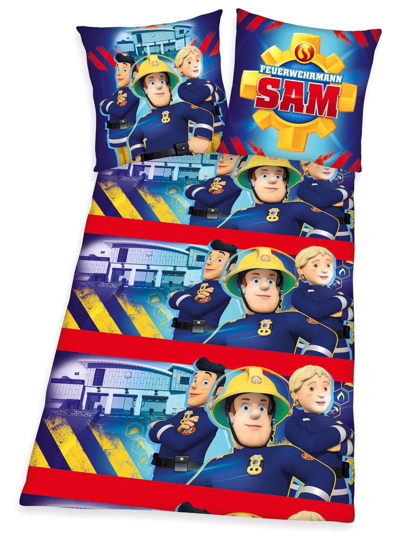 Feuerwehrmann Sam Flanell Bettwäsche 80x80 135x200cm I 50