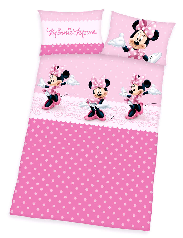 50 Sale I Disneys Minnie Mouse Baby Bettwäsche 40x60 100x135cm