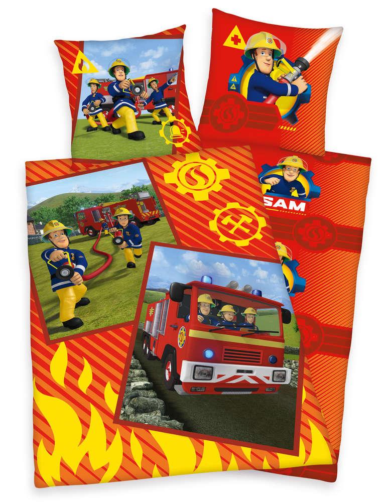 Feuerwehrmann Sam Bettwäsche 80x80 135x200