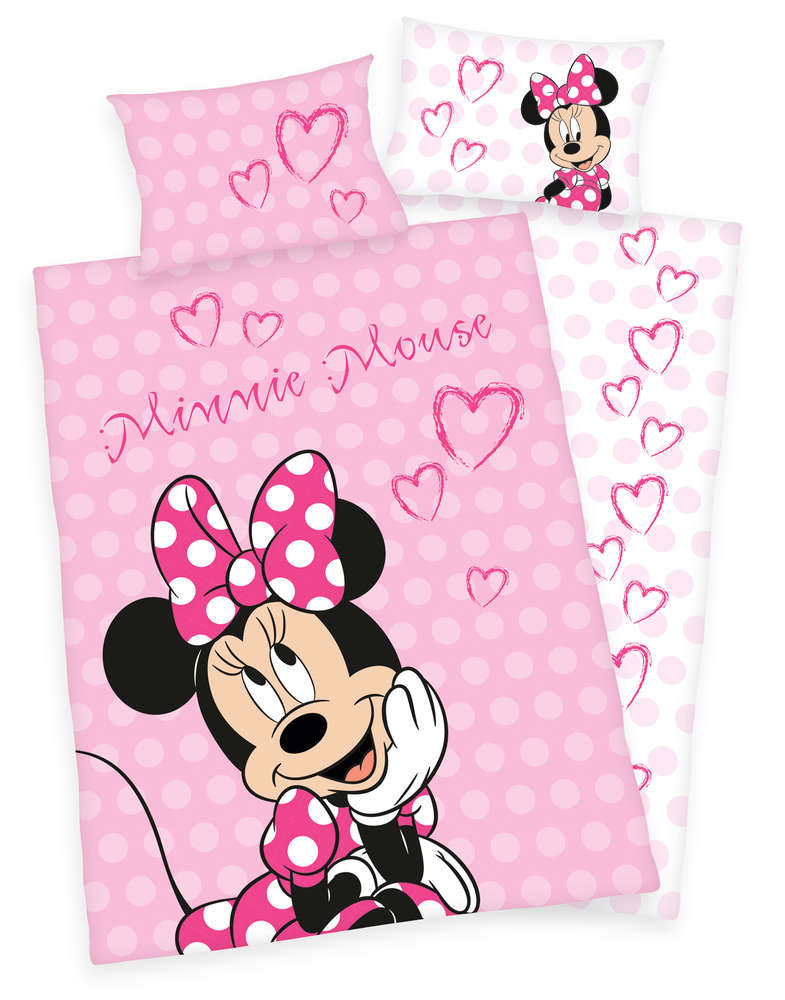 Sale I Disneys Minnie Mouse Bettwäsche 40x60 100x135cm I Herding
