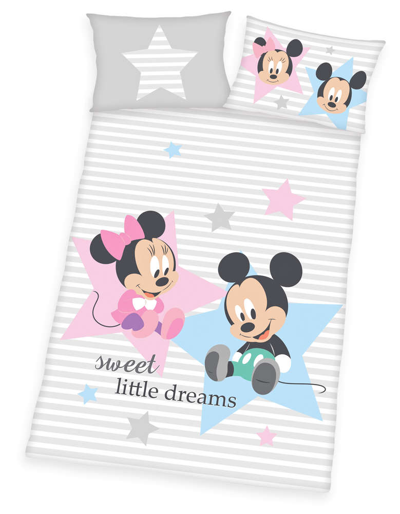 Sale I Disneys Mickey Minnie Mouse Bettwäsche 40x60 100x135cm