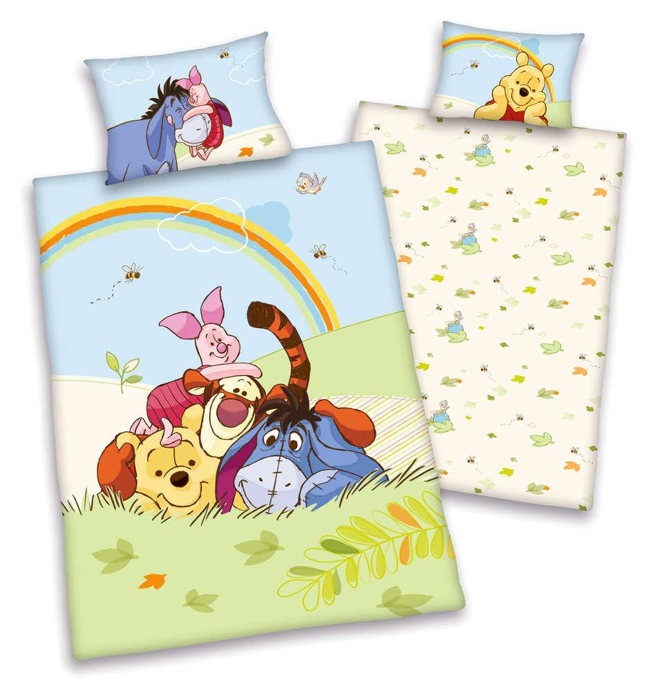 Sale I Disneys Winnie The Pooh Baby Bettwäsche 40x60 100x135cm