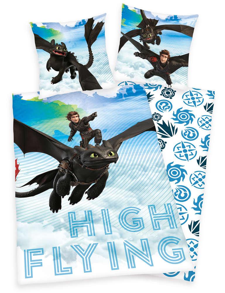 Sale I Dragons Bettwäsche Hicks Ohnezahn 80x80 135x200 I Herding
