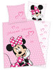 Disney´s Minnie Mouse Flanell Bettwäsche 80x80 + 135x200cm